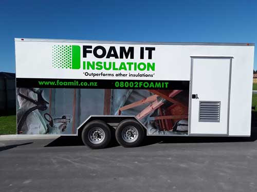 foam it trailer